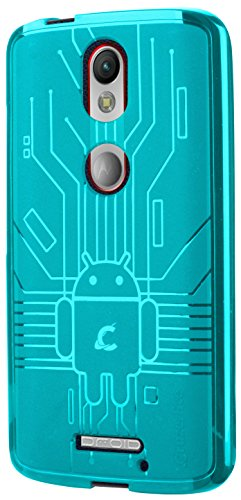 Moto X Force Case, Cruzerlite Bugdroid Circuit Case Compatible for Motorola Moto X Force - Teal