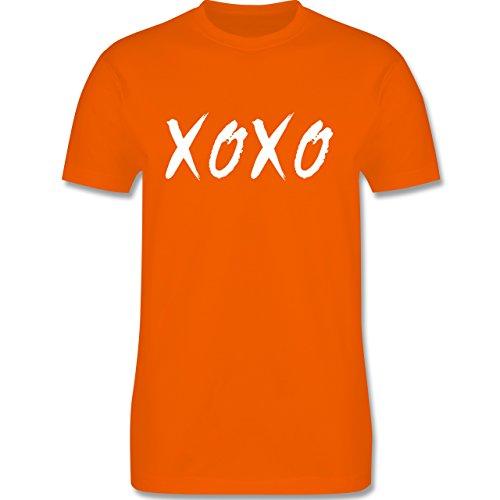 Statement Shirts - XOXO - Hugs and Kisses - Herren Premium T-Shirt Orange