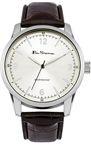 ben-sherman-mens-quartz-watch-with-silver-dial-analogue-display-and-black-pu-bangle-bs104