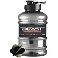 DOVEAZ Beast Sports Water Bottle / Protein Shaker Bottle / Gallon water Bottle (1.5 LTR) with Mixer Ball and Strainer…