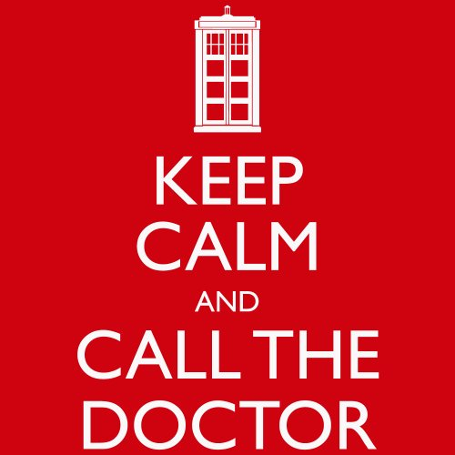 -- Keep Calm and Call the Doctor -- Boys Shirt Rot