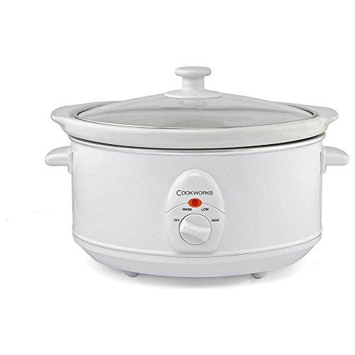 Cookworks 3.5L Slow Cooker - White.