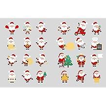 Set de Pegatinas de Navidad Santa Claus árbol de Navidad Pegatinas Bomba Pegatinas niños Pegatinas niñas