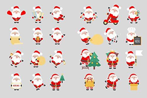 Set Pegatinas Navidad Santa Claus árbol Navidad Pegatinas