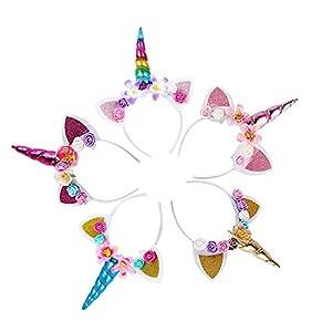 Diadema de unicornio con orejas