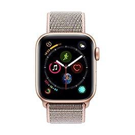 Apple Watch Series 4 (GPS, 40mm) Cassa in Alluminio Oro e Sport Loop Rosa Sabbia