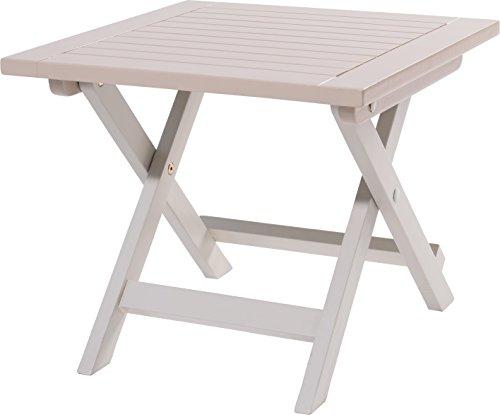 table d'appoint pliante burano - 45 x 45 x 38 cm - argile douce