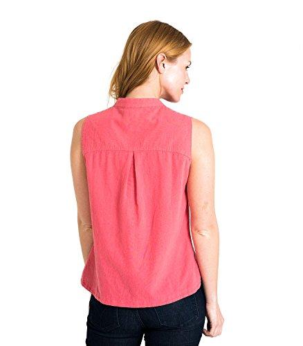 WoolOvers Chemise sans manches - Femme - Lin & Coton Corail