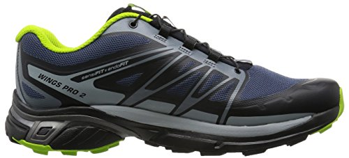SALOMON Wings Pro 2 Chaussures de trail Homme slateblue/light onix/granny green