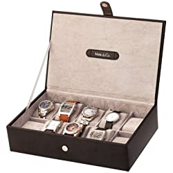 Large Luxury Leather Watch Box