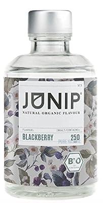 Infuseur bouteille de thé, eau et cocktail JUNIP | 100% BIO sans additifs artificiels ni sucres ajoutés | Faible en calories | mûre