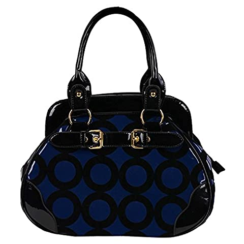 FASH Limited© Chic Mod Cercle Bowler style docteur sac à main , One Size