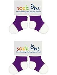 Sock Ons Baby Söckchen, 0-6 Monate, 2 Stück, verschiedenen Farben und Geschenkverpackung verfügbar!