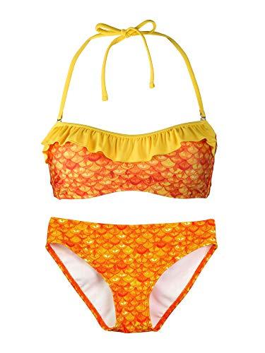 Fin Fun Bandeau Bikini Einstellen, Tropical Sunrise Oben, Tropical Sunrise Unterseite, Mädchen ()