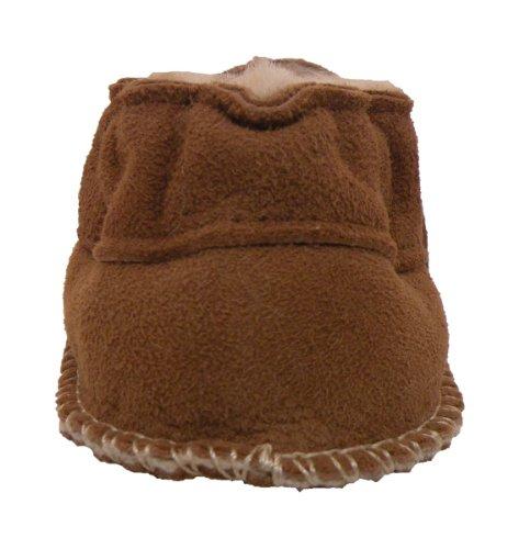 Plateau Tibet - Chaussons bébé avec doublure en VERITABLE laine d'agneau - Gris - Marron 18 19 20 21 Marron (Chestnut)