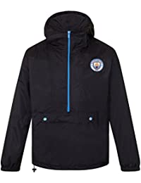 Manchester City FC Official Football Gift Mens Shower Jacket Windbreaker