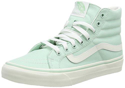 Vans Sk8-hi Slim, Unisex-Erwachsene Hohe Sneakers, Grün (Gossamer Green/Blanc De Blanc), 34.5 EU (Billig Vans Schuhe)