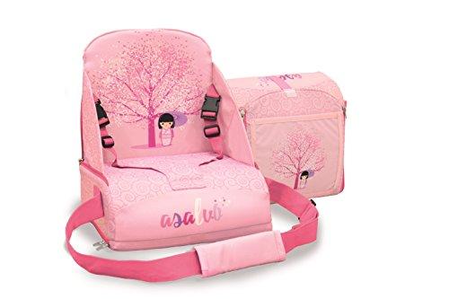 248e39ed800ea3 Rehausseur chaise haute Baby Fox collection  Japonaise  - Rose
