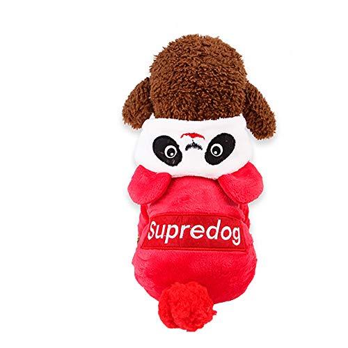 Xbeast Haustier-Jacke, warm, Winddicht, gepolstert, mit Panda-Motiv, Baumwolle, für kleine Haustiere