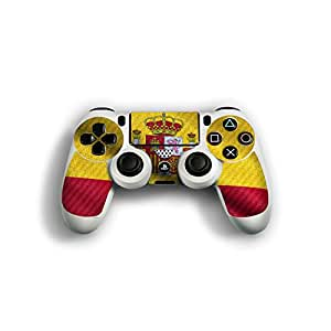 "Sony Playstation 4 Controller Designfolie ""Spanien Flagge"" Skin Aufkleber für Playstation 4 Controller (PS4)"