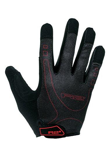 Radfahren Voll Finger Handschuhe Cube R2 by Relax®/Pro GEL/Fahren Sportbekleidung Renngeräte/Touchscreen-kompatibe/ATR29 (Schwarz-Rot ATR29A, (Fingerlose Handschuhe Rainbow)