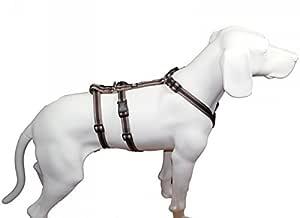 No Exit Ausbruchsicheres Hundegeschirr Für Angsthund Sicherheitsgeschirr Für Pflegehund Panikgeschirr Braun Muster Bauchumfang 40 60 Cm 15 Mm Bandbreite Haustier