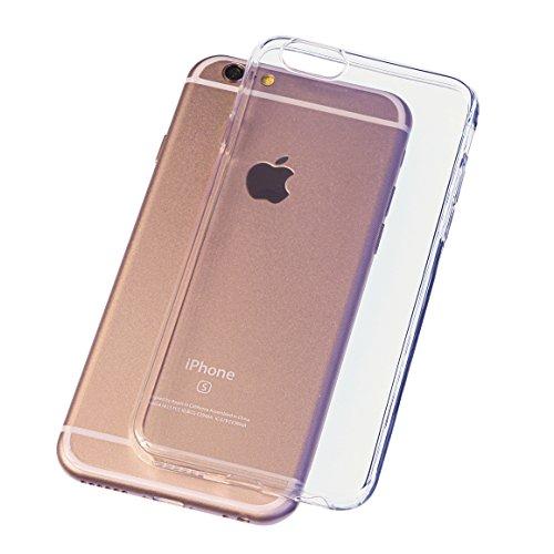 B&L iPhone 6 6s 4,7 Zoll Schutz-Hülle Silikon TPU transparent ultra-slim Case Cover ultra-thin durchsichtig extra Kameraschutz Linsenschutz 0,3mm