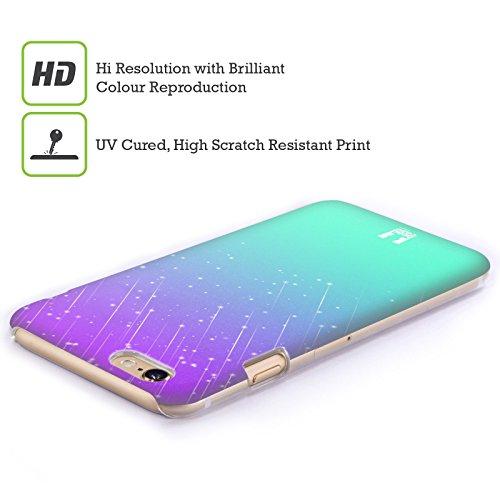 Head Case Designs Grün Neon Regen Schatten Ruckseite Hülle für Apple iPhone 6 / 6s Lila Wasser