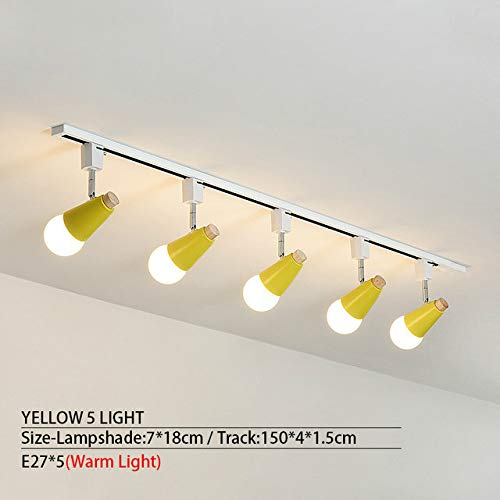 WSYYWD Lámpara de techo LED de larga distancia para iluminación de pasillo de instalación en superficie de sala de estar