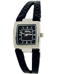 Montre REFLEX noir cadran carré bracelet PU (polyuréthane) divisé