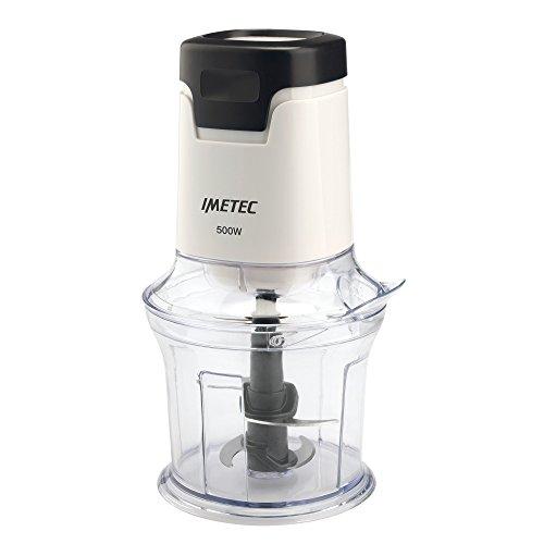 Imetec CH 1000 Tritatutto, 4 Lame in Acciaio Inox, Capiente Contenitore 600 ml, Accessorio Frusta per Salse e Panna Montata, Funzionamento a Pressione, 500 W