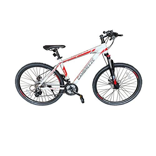 416v3MnQ90L. SS500  - Mars Cycles Unisex's Y660 Mountain Bike/Bicycles 26'' Wheel Lightweight Aluminium Frame 21 Speeds Shimano Disc Brake, White, 26