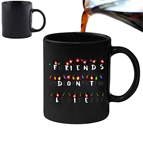 Stranger Things Inspired - Friends Don't Lie - Magic Morphing Mug 11oz Ceramic Coffee Tea Mug - Perfect Valentines/Easter/Summer/Christmas/Birthday by Acen