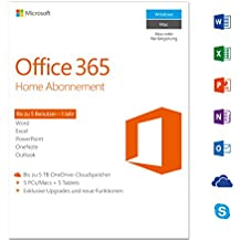 Microsoft Office 365 Home - 5PCs/MACs - 1 Jahresabonnement - multilingual (Product Key)  [Download]