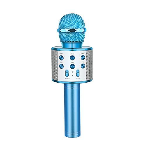 Dreamingbox Jungenspielzeug ab 5-9 Jahre, Drahtlose Bluetooth Karaoke Mikrofon mit Lautsprecher für Erwachsene und Kinder Spielzeug Geschenke für Mädchen Jungen ab 5-12 Jahre Geburtstagsgeschenk Blau -