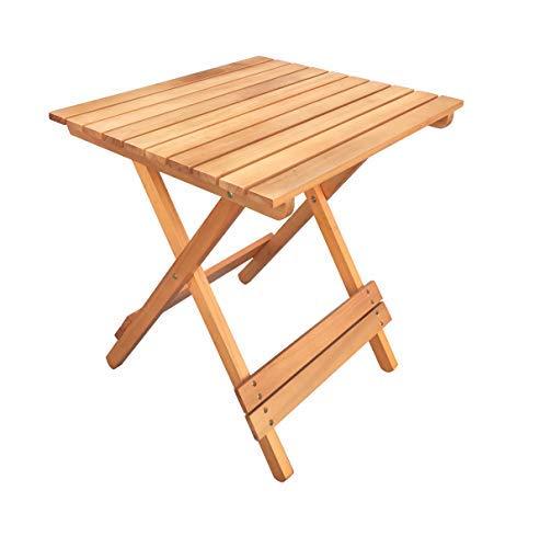 Havnyt Table d'appoint Pliante carrée en Teck 50 x 46 cm