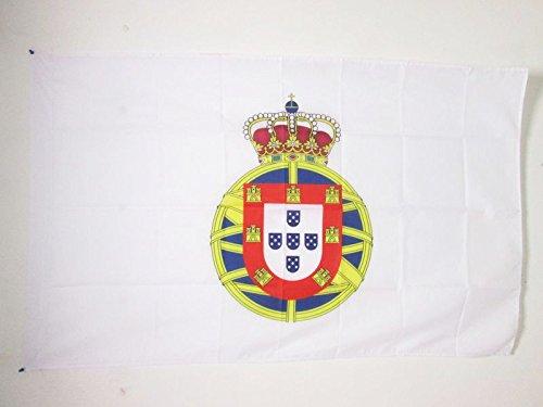 FLAGGE PORTUGIESISCHE KOLONIALGESCHICHTE 1415-2002 150x90cm - PORTUGAL ALT FAHNE 90 x 150 cm scheide für Mast - flaggen AZ FLAG Top Qualität