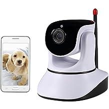 NexGadget IP Camera Wifi Videocamera di Sorveglianza Wireless P2P con Audio Bidirezionale Visione Notturna Monitore di Bambini e Animali per Sicurezza di Casa - Corda Angolo