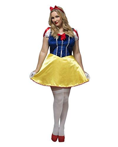 Plus Size Märchenkostüm Schneewittchen für Damen XXXL (Plus Schneewittchen Kostüme)