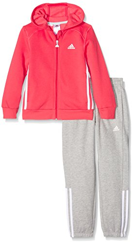 adidas Jungen Essentials Hojo Trainingsanzug, Top:Joy/White Bottom:Medium Grey Heather/White, 128