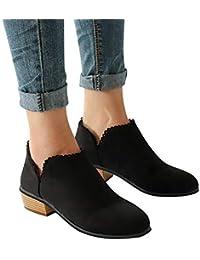 ABsoar Stiefel Damen Herbst Schuhe Ankle Roman Martin Stiefel Mode Frauen  Stiefel Runde Kappe Stiefeletten Klassische 433e6b15c0