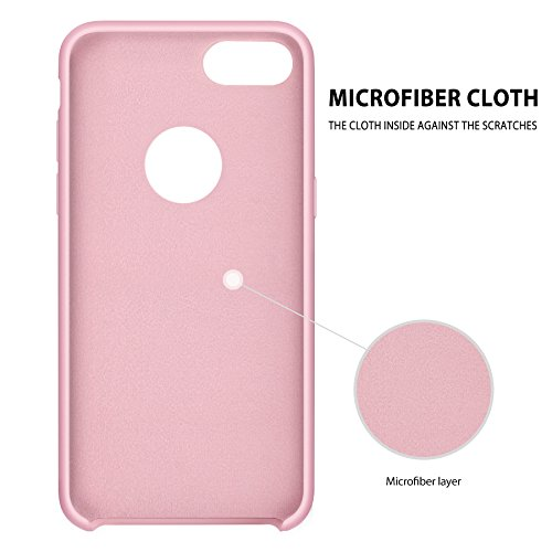 Custodia iPhone 7 Plus Cover ,Tohayie [Serie Macaron ] Custodia in Silicone Protezione Affidabile per iPhone 7 Plus Rosa