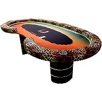 Newpokertable mesa de poker exclusiva, 246x124 cm,led RGB, caja de recaudacion . table of poker