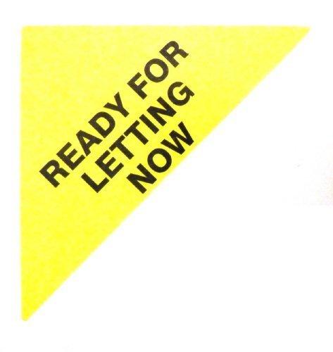 Etiquetas Para Viviendas En Venta , texto: LISTO PARA DEJAR AHORA , Amarillo , Triángulo Grande , Inmuebles & Alquileres Agente pegatinas autoadhesivas