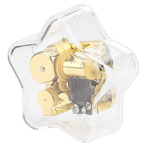 Shanbor Spieluhr, New Acryl Pentagram Transparent Wind-up Clockwork Musical Gift(Schloss im Himmel)