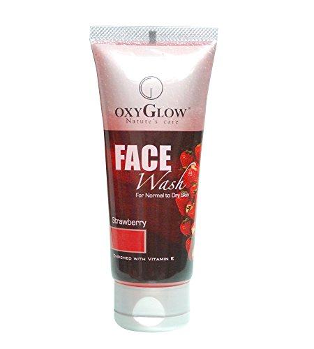 OxyGlow Natur Pflege Strawberry Face Wash mit Vitamin E Alle Hauttypen 100ml
