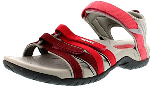 Teva Tirra W's Damen Sport- & Outdoor Sandalen, Rot (red gradient 617), EU 38