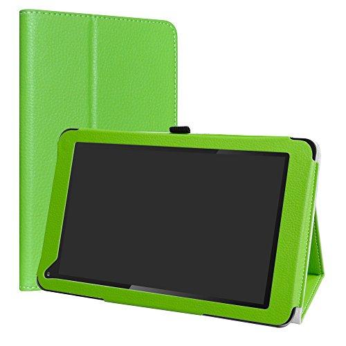 LiuShan Dragon Touch V10 hülle, Folding PU Leder Tasche Hülle Case mit Ständer für Dragon Touch V10 10 inch Android Tablet,Grün (Grün Tablet Touch Dragon)
