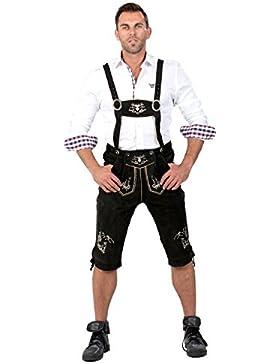 Almwerk Herren Trachten Lederhose Kniebund Modell Platzhirsch
