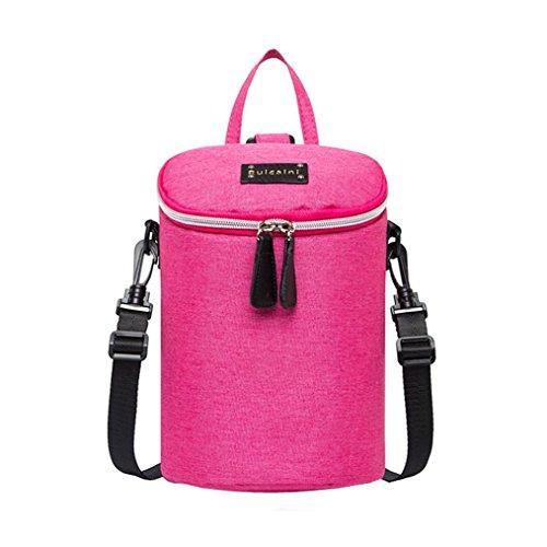 Multifunktionale Mutter-Kind-Tasche, Portable Mommy Windel Taschen Wasserdichte Schultertaschen Pink